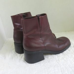 Diba Leather Heeled Ankle Boots Sz 8.5